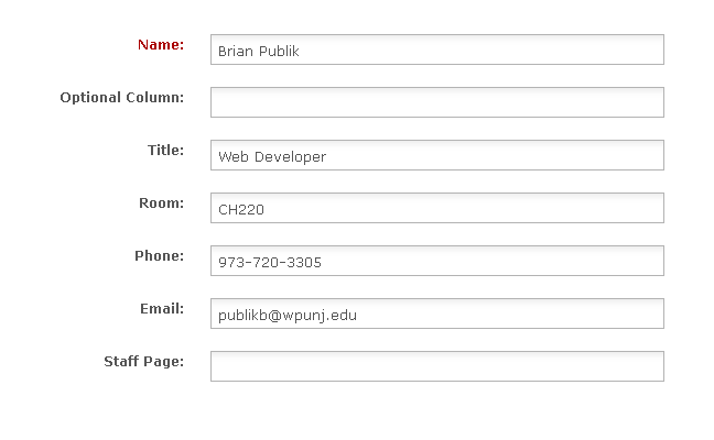 Contact Information Form  Contact Information Template