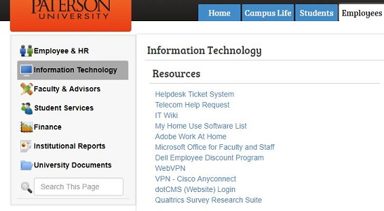 Home Use Software William Paterson University Information