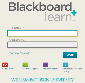 Blackboard William Paterson University Information