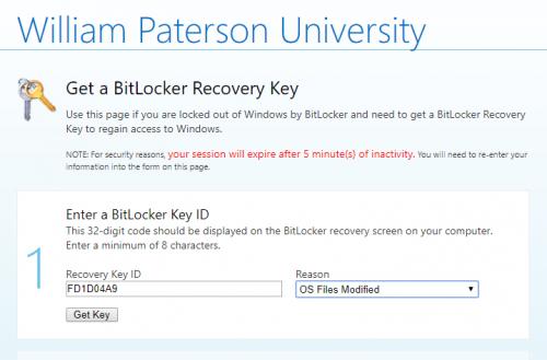 Bitlocker - William Paterson University - Information